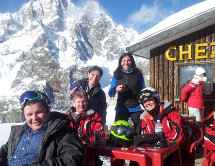 group ski and snowboard tours